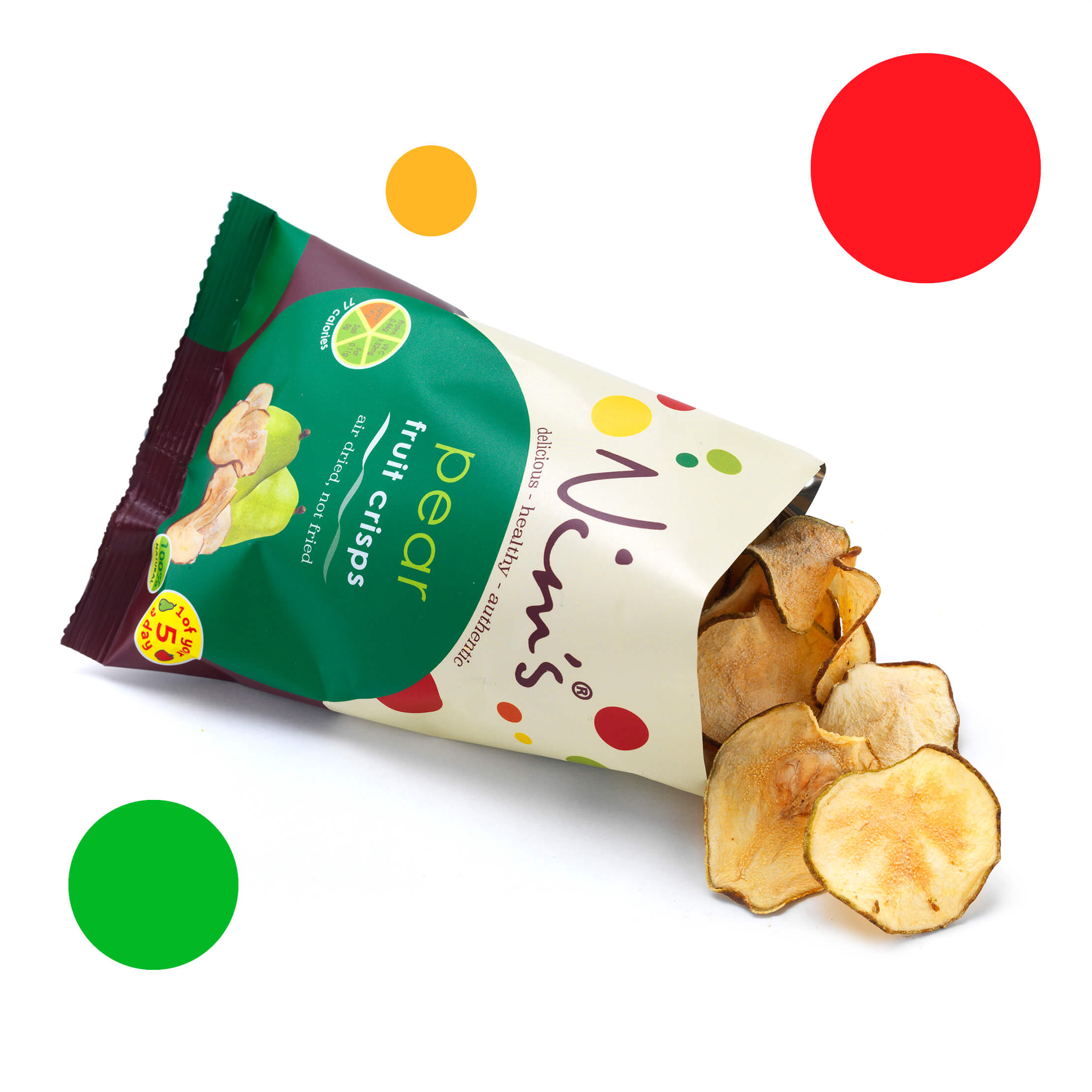 Nims Fruit Crisps pear bag