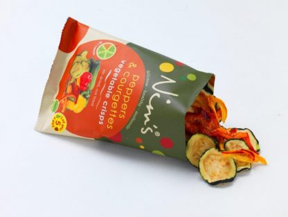 Peppers & Courgette Vegetable Crisps Open Packet