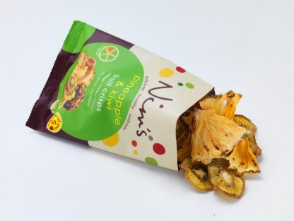 Pineapple & Kiwi Fruit Crisps Open Packet