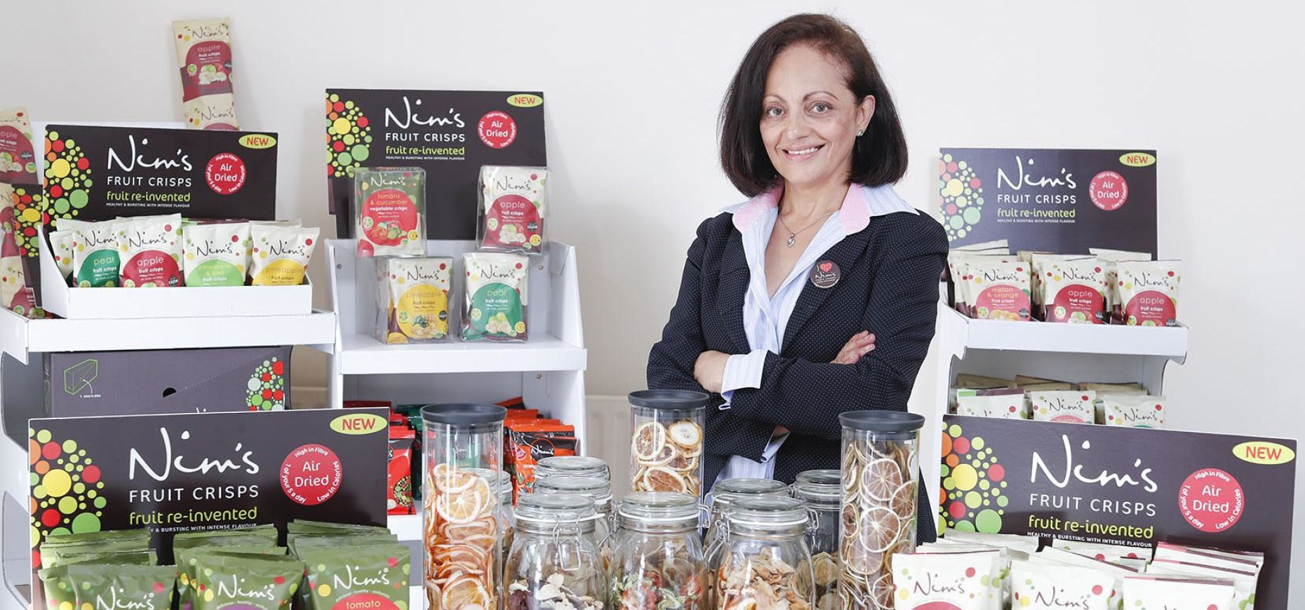 Nimisha Raja of Nim's Fruit and Vegetable Crisps