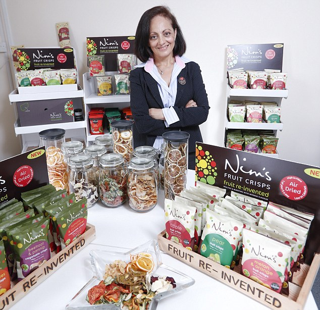 Nimisha Nims: About Us The Nim's Fruit Crisps Story Nim's Fruit Crisps was launched in November 2012 from the inspiration of single mother and entrepreneurial cafe owner, Nimisha Raja. Nimisha's cafe sat opposite a school and was popular with children wanting to buy the usual treats - chocolates, crisps, biscuits.