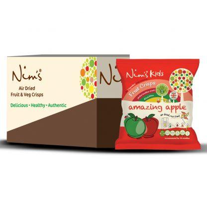 Nim's Kids Amazing Apple Fruit Crisps Box (12 Packets)